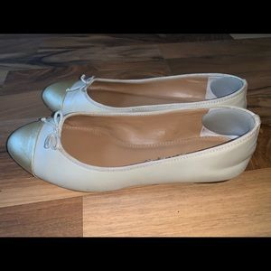 J Crew Emma ballet flats with bow size 8 tan